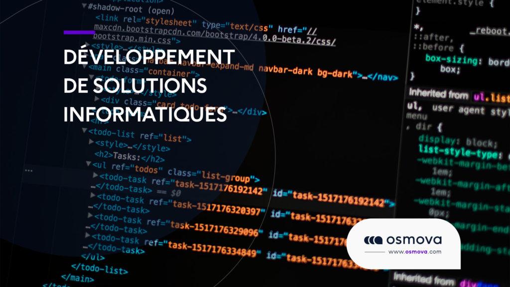 Développement de solutions informatiques