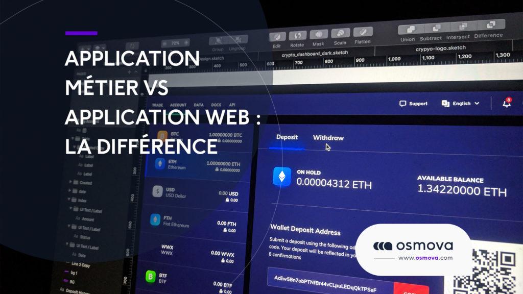 Application métier vs application web