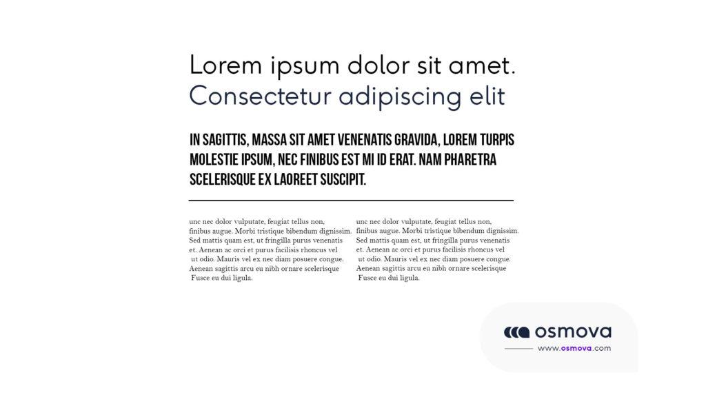 Hiérarchie visuelle et typographie