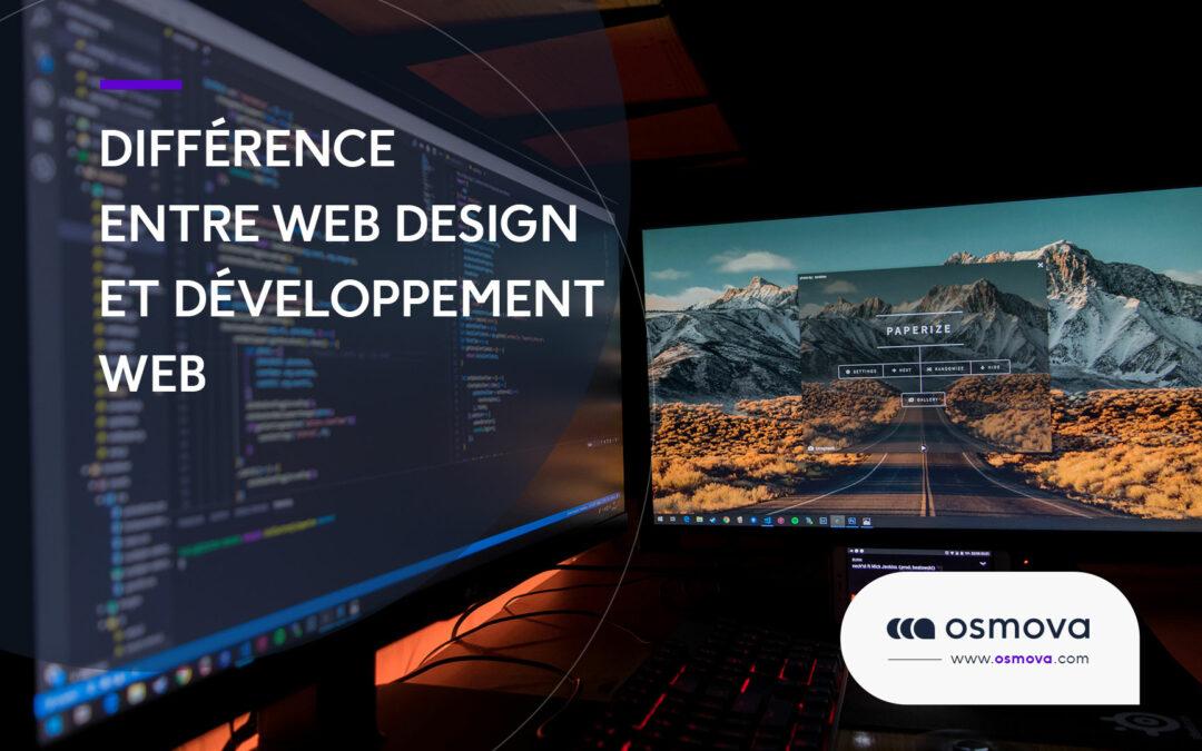 Différence entre web design et développement Web